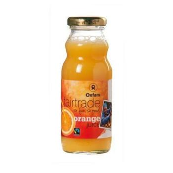Orange Juice Oxfam 20cl (Empty bottles + Crate)