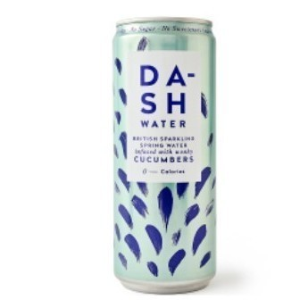 Dash Sparkling Spring Water Cucumber 33CL Cans ompk: 12