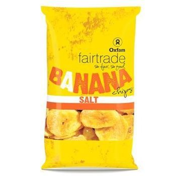 Banaanchips zout 85g