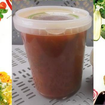 Tomato-Vegetable Soup + Meatballs - to pick up 950ml x4